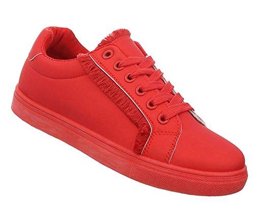 Damen Schuhe Freizeitschuhe Sneakers Rot