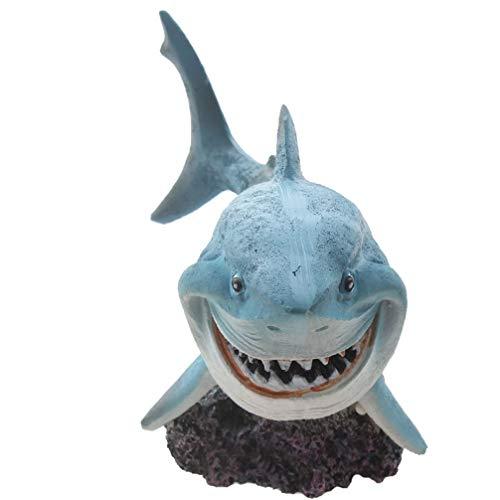 Emours Resin Shark Fish Tank Decor Aquarium Ornament Home Decoration (Tank Shark Fish)