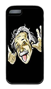 for iphone 5c Case Funny Albert Einstein TPU Custom for iphone 5c Case Cover Black