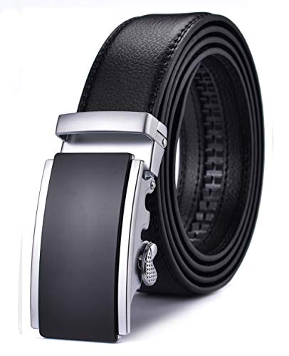 Belt Buckle New Cool - Xhtang Men's Ratchet Belt Automatic Buckle Genuine Leather 35mm Wide L
