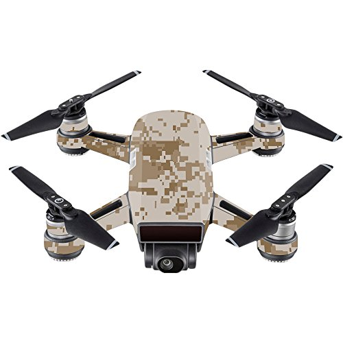 MightySkins Skin for DJI Spark Mini - Desert Camo | Protective, Durable, and Unique Vinyl Decal wrap Cover | Easy to Apply, Remove, and Change Styles | Made in The USA ()