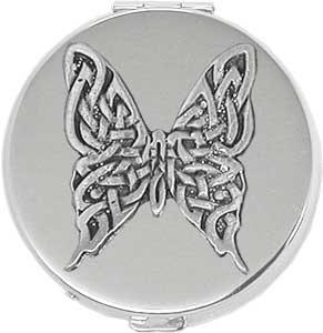 Amazon.com: Mariposa Round Celta Plata Pastillero/Compact ...