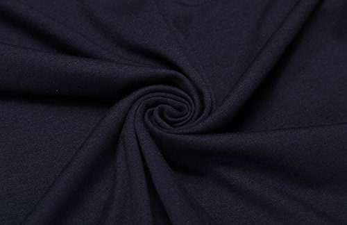 COOFANDY Men's Long Sleeve Polo Shirt Classic Causal Business Slim Fit Cotton Short Sleeve Polo T Shirts,Navy Blue,Large by COOFANDY (Image #6)