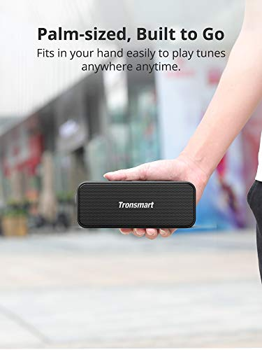 Bluetooth Speakers, Tronsmart T2 Plus 20W Outdoor Waterproof Speakers Bluetooth 5.0, IPX7 Portable Wireless Speakers, 24-Hour Playtime, TWS, Built-in Mic, Speaker for Home, Outdoors, Travel