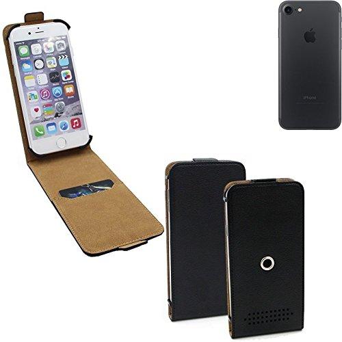Schutz-Hülle für Apple iPhone 7, schwarz 360° Handy Case Hülle Smartphone Tasche mit Kameraschutz. flach & elegant. Flipcover aus Kunstleder - K-S-Trade (Wir zahlen Steuern in Deutschland!)