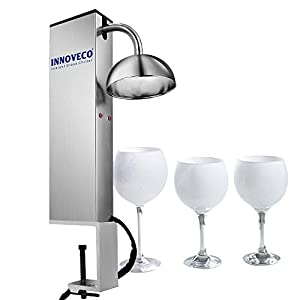 INNOVECO Glass Chiller – CO2 Glass Froster for Cups and Glasses – Instant Drink Chiller...