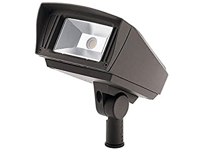 """Kichler Lighting 16221AZT30 C-Series - 7"""" 12W 3000K 1 LED Knuckle-Mount Outdoor Small Flood Light, Textured Architectural Bronze Finish"""