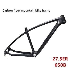 Cuadros3 K de Fibra de Carbono de Bicicleta de montaña Marco T700 ultraligeros MTB Negro Mate Unibody encaminamiento de Cable Interna Negro Matte Black Talla:17-Inch