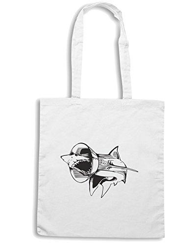 T-Shirtshock - Bolsa para la compra FUN0099 04 28 2013 Sharky Boy Flashback T SHIRT det Blanco
