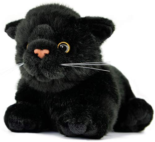 VIAHART Blarney The Black Cat   7 Inch (Without Tail!) Animal Plush   by Tiger Tale Toys -