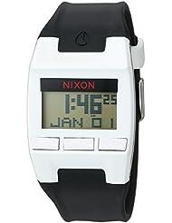 Nixon Mens Comp Plastic and Silicone Automatic Watch, Color:Black (Model: A408127-00)