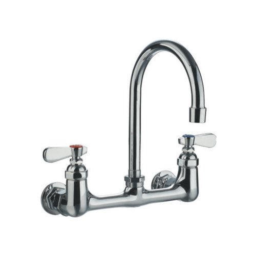 Wall Mount Laundry Faucet - Whitehaus Collection WHFS9814-P5-C Laundry Faucets, Polished Chrome