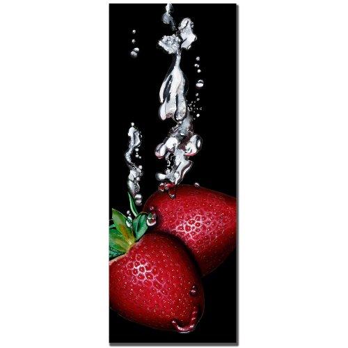 Strawberry Splash by Roderic Stevens, 12×32-Inch Canvas Wall Art