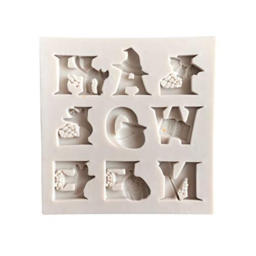 Lovhop Halloween Letter Silicone Mold DIY Chocolate Cake Candy Cookies Fondant Mould Kitchen Baking -