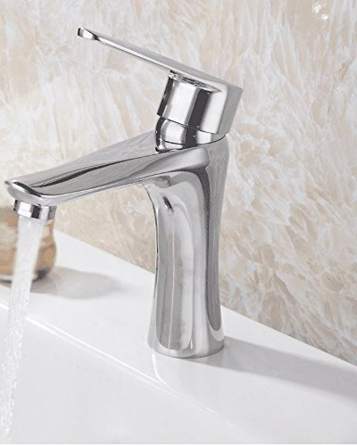 ETERNAL QUALITY Bathroom Sink Basin Tap Brass Mixer Tap Washroom Mixer Faucet Hot and cold basin faucet bathroom sink single hole single handle blender Kitchen Sink Taps