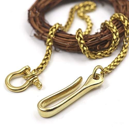 Buckes - Long Metal Wallet Belt Key Chain Rock Punk Trousers Jean Keychain Solid Brass Buckle Hook Clip Keyring for Men's DIY Accessories ()