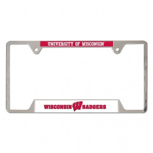 wisconsin-badgers-metal-license-plate-frame-red