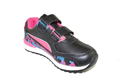 BTS - Zapatillas de Piel para niño 36 Varios Colores - Schwarz/ Pink