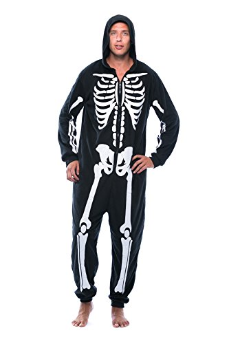 #followme M6259-NEW-XXL Skeleton Adult Onesie/Pajamas]()