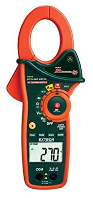 Extech 1000 Ampere Clamp Meters with Infrared Thermometer