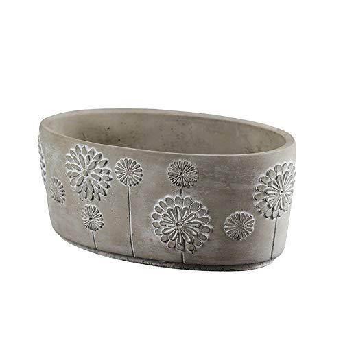 Ellipse Flowerpot Silicone Mold Concrete Planter Mould Handmade Craft Cement Decoration Tool (Concrete Mold Pots)