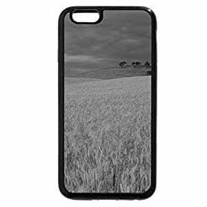 iPhone 6S Plus Case, iPhone 6 Plus Case (Black & White) - One Lonely Tree in a Field of Hay