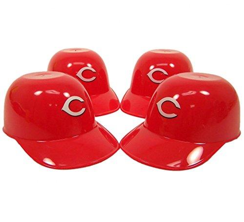 Cincinnati Reds Mini Batting Helmet (Cincinnati Reds Official MLB 8oz Mini Baseball Helmet Ice Cream Snack Bowls (4) by)