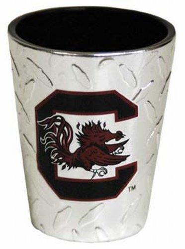 (NCAA South Carolina Gamecocks Shotglass Diamond Plate)