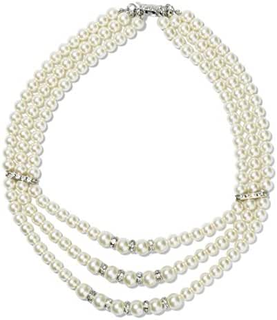 Ginasy Multi Strand Simulated Pearl Necklace