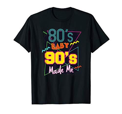- Retro 80s Baby 90s Made Me Graphic Shirt