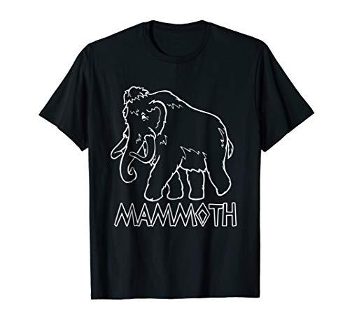Mammoth T-Shirt Prehistoric Elephant Animal Tusk Ivory (Mammoth Ivory Tusk)