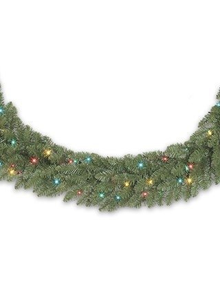 balsam hill berkshire mountain fir prelit artificial christmas garland 10 feet multi colored