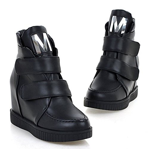 Women's Velcro Taoffen Women's Taoffen Black Boots aqPxHw0g