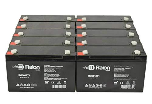 Raion Power RG0612T1 6V 12Ah Replacement SLA Battery for Chloride 1001136-Retrofit Emergency Light - 10 -