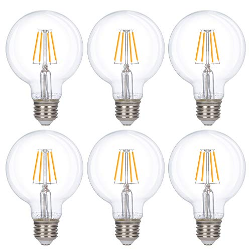 Simba Lighting LED Edison Vintage Vanity Globe Filament G25 (G80) 4W Dimmable -