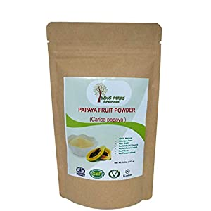 Gut Health Shop 41J6MrS8MnL._SS300_ 100% Natural Papaya Powder, 8 oz, Eco-friendly Resealable pouch, No Artificial Flavors/Preservatives/Fillers, Halal…