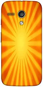 Snoogg Orange Rays Background Designer Protective Back Case Cover For Moto-G