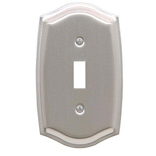 Baldwin Estate 4756.150.CD Colonial Design Single Toggle Wall Plate in Satin Nickel, 5.12