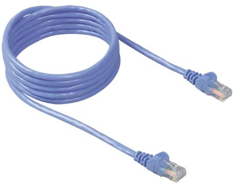 B00000JDF5 Belkin RJ45 CAT 5e Snagless Molded Patch Cable (3 Feet, Blue) 41J6NWNVJBL