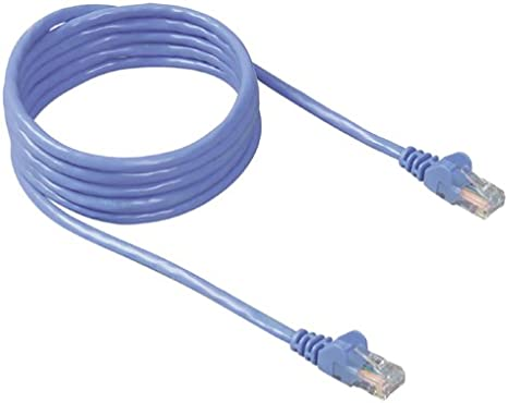 Snagless//Molded Boot Blue CNE50352 Cat5e 3-Foot Ethernet Patch Cable 5-Pack