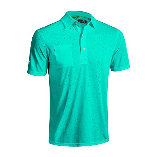 (2016 Mizuno Digital Jacquard Polo Shirt, Cockatoo, Large)