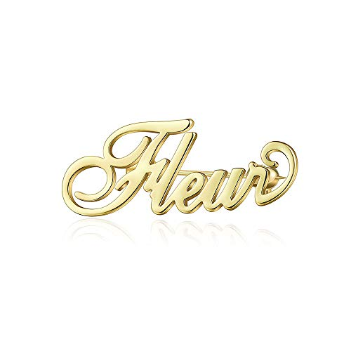 MANZHEN Personalized Custom Name Brooch Pin Customized Jewelry 3 Colors Brooches for Women ()