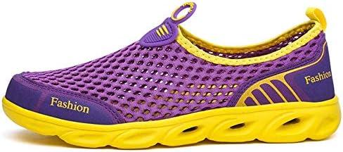 HYH パープル/イエローの男性と女性のウォーターシューズサーフィンビーチスイミングシュノーケリングと速乾性排水通気性のソフトで軽量カットカップル上流の川でのハイキングアウトドアスポーツやレジャー いい人生 (色 : Purple, Size : US6.5)
