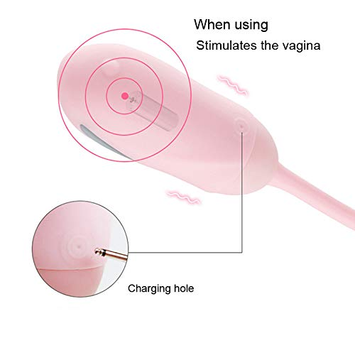 Mute Electic Pulse estimular Stimulate Vagina Ball Vibrator Massager Jump Egg G-Spot Massager Vibrator Clitoris Stimulator Masturbación Juguetes sexuales para mujeres, azul d6be11