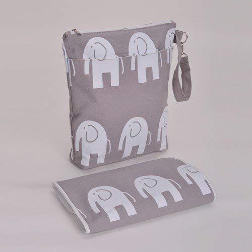 Bambino Baby Changing Bag & Mat Diaper Bag Mummy Bag (Elephant)