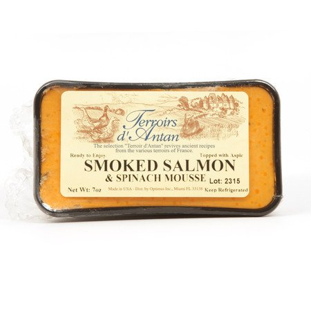 Smoked Salmon And Spinach Mousse Pate - All Natural - 1 x 7.0 oz (198 gr) (Cream Smoked Cheese Salmon)