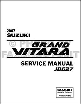 2007 suzuki grand vitara repair shop manual original suzuki amazon rh amazon com 2007 suzuki rm250 service manual suzuki grand vitara 2007 service manual pdf
