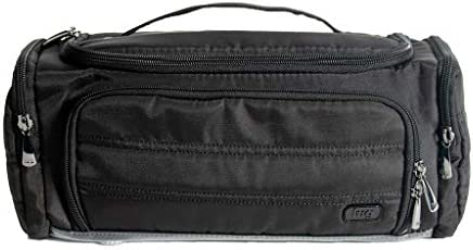 Lug Women's Trolley Toiletry Bag, Compact Travel Case, BRUSHED BLACK, One Size