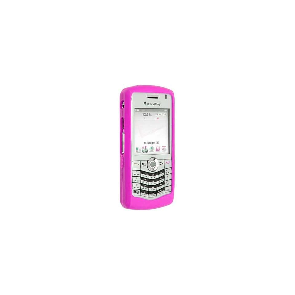 Blackberry Pearl 8130 Hot Pink Silicone Skin Case
