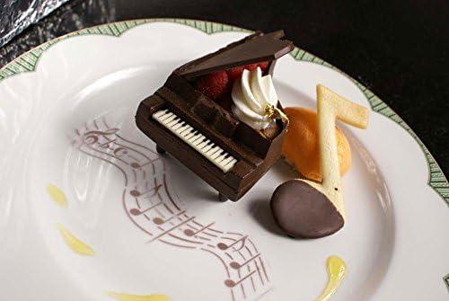 Beige//Semi-Transparent 12 Designer Stencils C2128T Musical Notes Cake Stencil